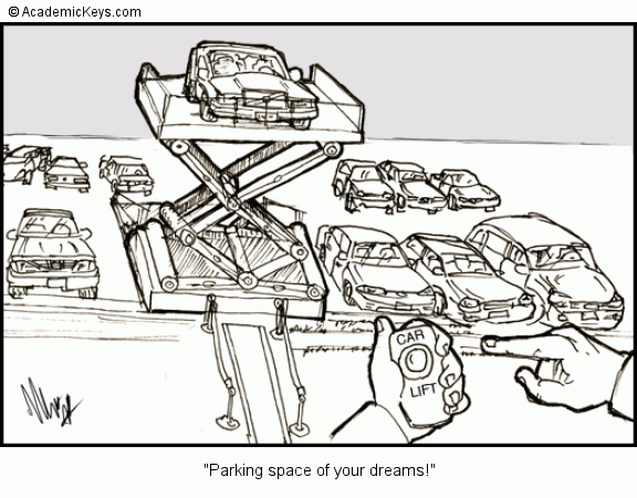 Cartoon 21 Parking Space Of Your Dreams