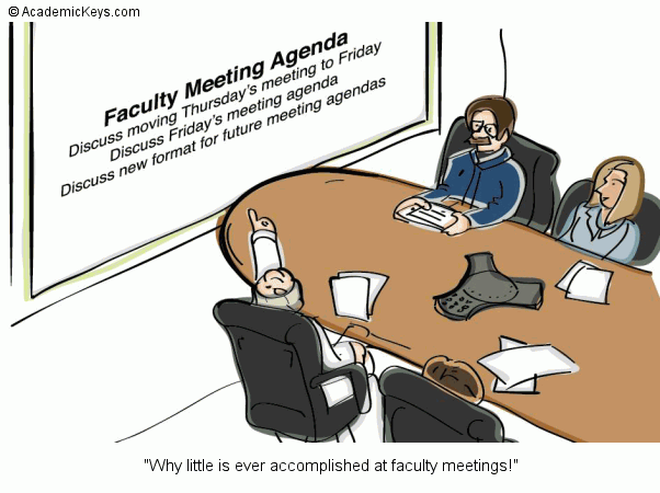 Cartoon #78, Why little is ever accomplished at faculty meetings!